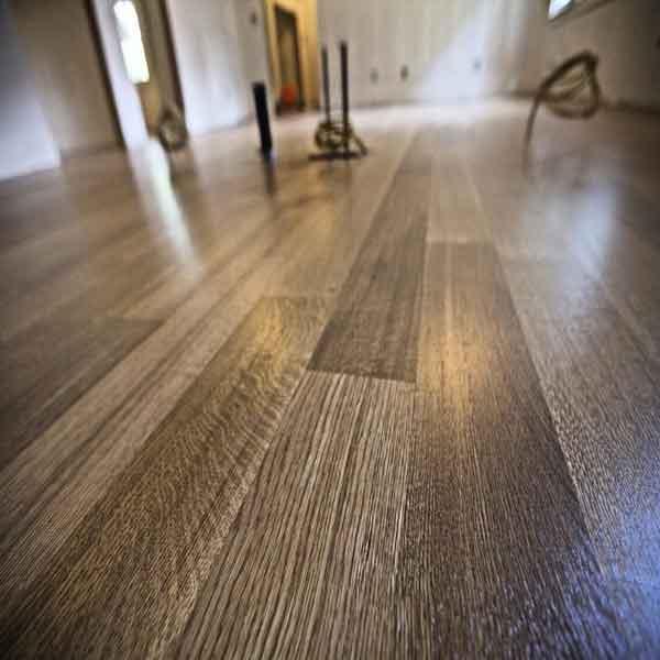 Fruitwood Stain On Rift And Quartered White Oak Floored